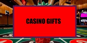 Casino gifts banner on a red background